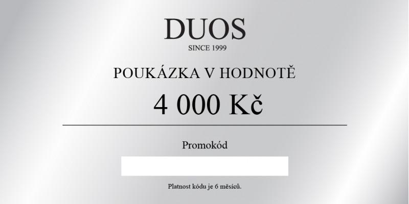 Digitální dárková poukázka 4000 Kč
