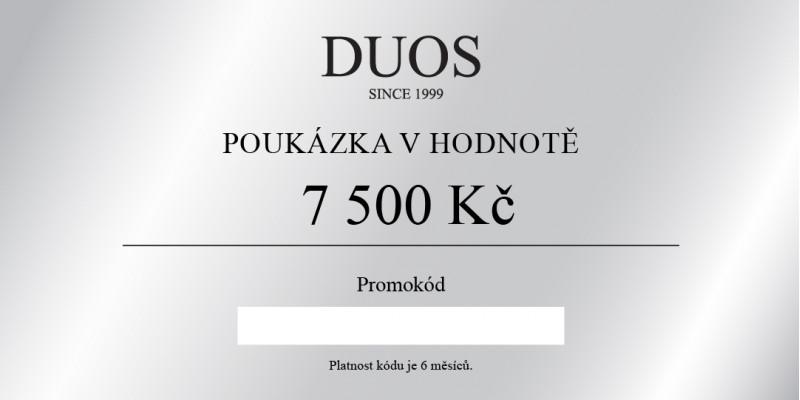 Digitální dárková poukázka 7500 Kč