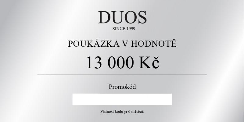 Digitální dárková poukázka 13 000 Kč