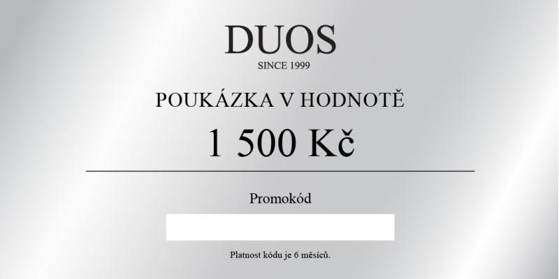 Digitální dárková poukázka 1500 Kč